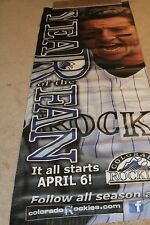 Colorado Rockies Game Use Troy Tulowitzki BANNER FROM COORS FIELD RARE!!!!!