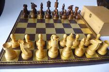TOP Qualität*Staunton Schachspiel*Narra Holz + Kasten*neuwertig*Kein Brett