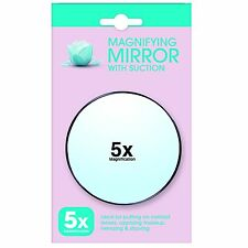 5x Magnifying Mini Cosmetic Mirror Eye Makeup Eyebrow Suction Cups Make Up