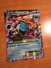 EX MEGA Pokemon M BLASTOISE EX Card BASE XY Set 30/146 Ultra Rare X and Y 220 HP
