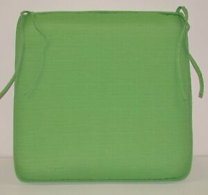 """Outdoor Patio Welted Seat Pad ~ Lime Sherbert ~ 19"""" x 18"""" x 3"""" **NEW**"""