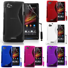 Protective Cover For sony Xperia L S36h TPU Silicone Flip Case Cover
