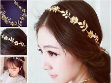 Women Fashion Golden Leaf Head Chain Jewelry Headband Head Piece Hair band