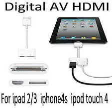 Dock to Digital AV HDMI Adaptor Cable Connector for iPad 2 3 iPhone 4 4S IOS 9.2