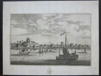 1666 UFU Wuhu original etching Johan Nieuhof  Cina China 芜湖市 Yangtze river
