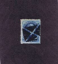 SC# 179 USED 5 CENT TAYLOR, 1875, HUGE!  QUARTERED CORK CANCEL, PF CERT, LOOK.