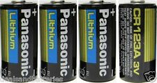 4 Panasonic CR123A Cr123 CR 123 Lithium Batteries 2028