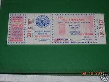 1973 ALL-STAR UNUSED FULL BASEBALL TICKET