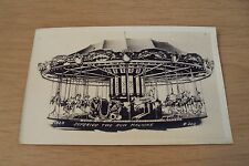 "RARE 1920 AD Trade/Post Card"" MERRY-GO-ROUND""~C. W. Parker AMUSEMENT Co~RPPC"
