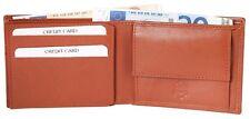 Herren-Geldbörse 11 x 8 cm Braun Echt-Leder Portemonnaie D-421000200083400