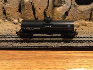 N Scale Micro trains 39' single dome tank car ATSF SANTA FE NIB