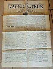 journal l agriculteur numero 160 de 1882