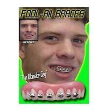Instant Smile Billy Bob Braces Nerd Fake Teeth Novelty Cosmetic Top Veneer