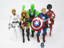 Marvel Legends lot Captain America Radioactive Man Ms. Marvel Sharon Carter