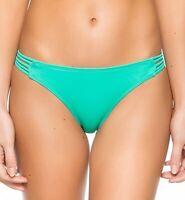 HURLEY Womens Aqua Green Spider Pant Bikini Bottom Sz XS