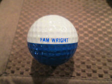PING GOLF BALL-BLUE/WHITE PING #1..1992 SOLHEIM CUP LOGO..PAM WRIGHT-LPGA...9/10