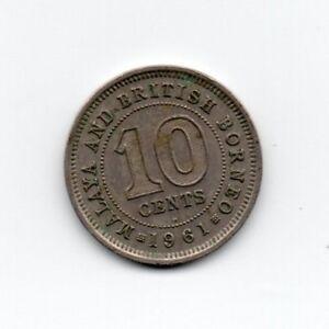 Malaya and British Borneo 10 Cents 1961 Elizabeth II