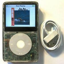 80GB iPod Classic Video 5th 5.5 Enhanced White Transparent + Wolfson DAC Custom