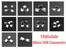 10 Values*10pcs = total 100pcs Micro USB  Female 5Pin Socket Jack Connector