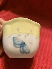 Lenox Butterfly Meadow Yellow Votive Candle Holder Small Dessert Bowl