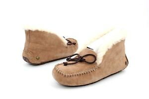 UGG Alena Moccasin Fully Lined Slippers Fawn Color Size 5 US New in box