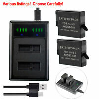 For GoPro Hero5 Battery Or USB charger AHDBT-501 2018 Hero6 GoPro Hero7 Camera