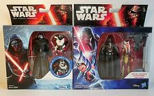 Pair Disney Hasbro STAR WARS Figures - Darth Vader Ahsoka Tano + Kylo Ren - NEW