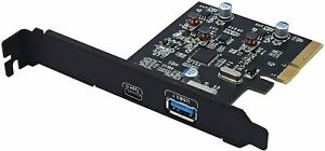 Pci-e To Usb 3.1 Gen 2 (10 Gbps) Type A+Type C Expansion Card