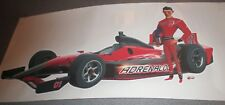 "TURBO ADRENALODE 24"" INDY CAR 500 Racing Wall Graphic Decal Poster Cling"