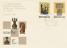 Poland FDC (Mi. 2322-23) Chess festival #1