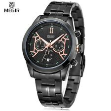 Montre De Luxe Fashion Top Qualité Homme Mégir  Date Chronograph Etanche