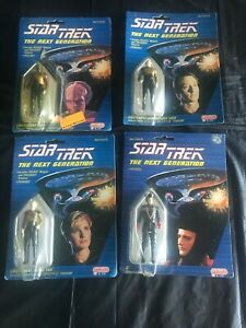 Star Trek The Next Generation Action Figures 1988 Galoob Worf Data Q Tasha Yar