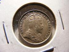 Canada 1905 Silver 5 Cent, KM#13, Very Nice AU