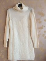 Micheal Kors Women's Whte Lace Details Sweater Dress Size:M BNWT