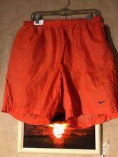 Nike men's swim trunks size XL orange/black nylon/polyester
