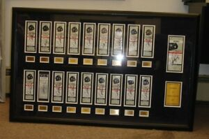 "Alex Rodriguez Autographed 2007 'March to 500"" Full HR Ticket Display - 19 sigs"