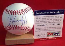 Dayan Viciedo signed Official MLB Baseball PSA/DNA Cert # W21366