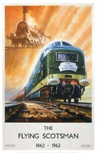 Vintage Flying Scotsman - train Art Railway Travel Poster Art Print A1/A2/A3/A4