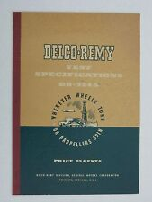 Delco-Remy Test Specifications DR-324S - Vintage 1950 General Motors GM Booklet
