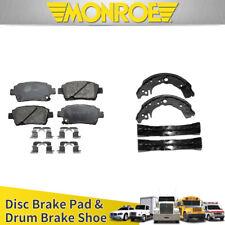 Rear Ceramic Brake Pads /& Brake shoes 2SET Fits Toyota Echo 2000 Centric Front