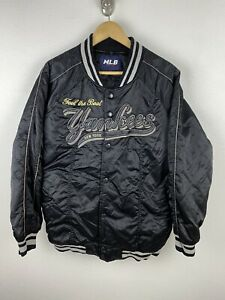 Vintage MLB New York Yankees Mens Satin Jacket Size 100 / XL Rare 90s Sewn