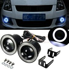 2.5'' Car White COB LED Projector Halo Angel Eyes Ring DRL Fog Light White Lamp