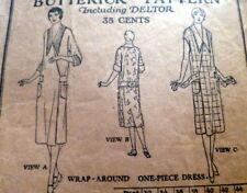 RARE VTG 1920s DRESS BUTTERICK Sewing Pattern BUST 36