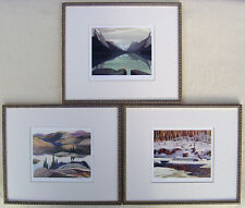 Group of Seven Print, Lawren Harris, F. Carmichael & A. J. Casson in Gold Frames