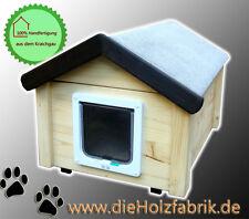Outdoor Katzenhaus wetterfest mit Katzenklappe - NS2-J
