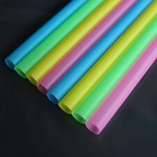100Pcs 210*10mm Drinking Straws For Bubble Tea Smoothie Milkshake Home Party