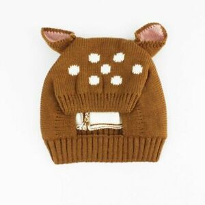 Beanie Cap Baby Hats Girls And Boys Knitted Deer Cotton Adjustable Kids Skullies