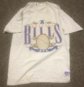 RARE FACTORY ERROR Vintage Buffalo Bills Shirt AFC Nutmeg Mills XL