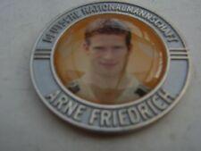 Pin Chip Münze ARNE FRIEDRICH silberfarben VfL Wolfsburg Fussball Bundesliga DFB