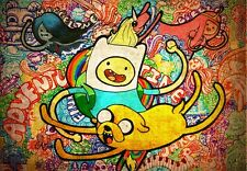 "Adventure Time - With Finn & Jake TV Series Fabric Poster 20"" x 13"" Decor 22"